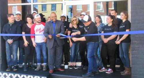 firecracker ribbon cutting